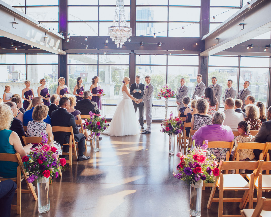 Wedding Ceremony held at The Bridge Building