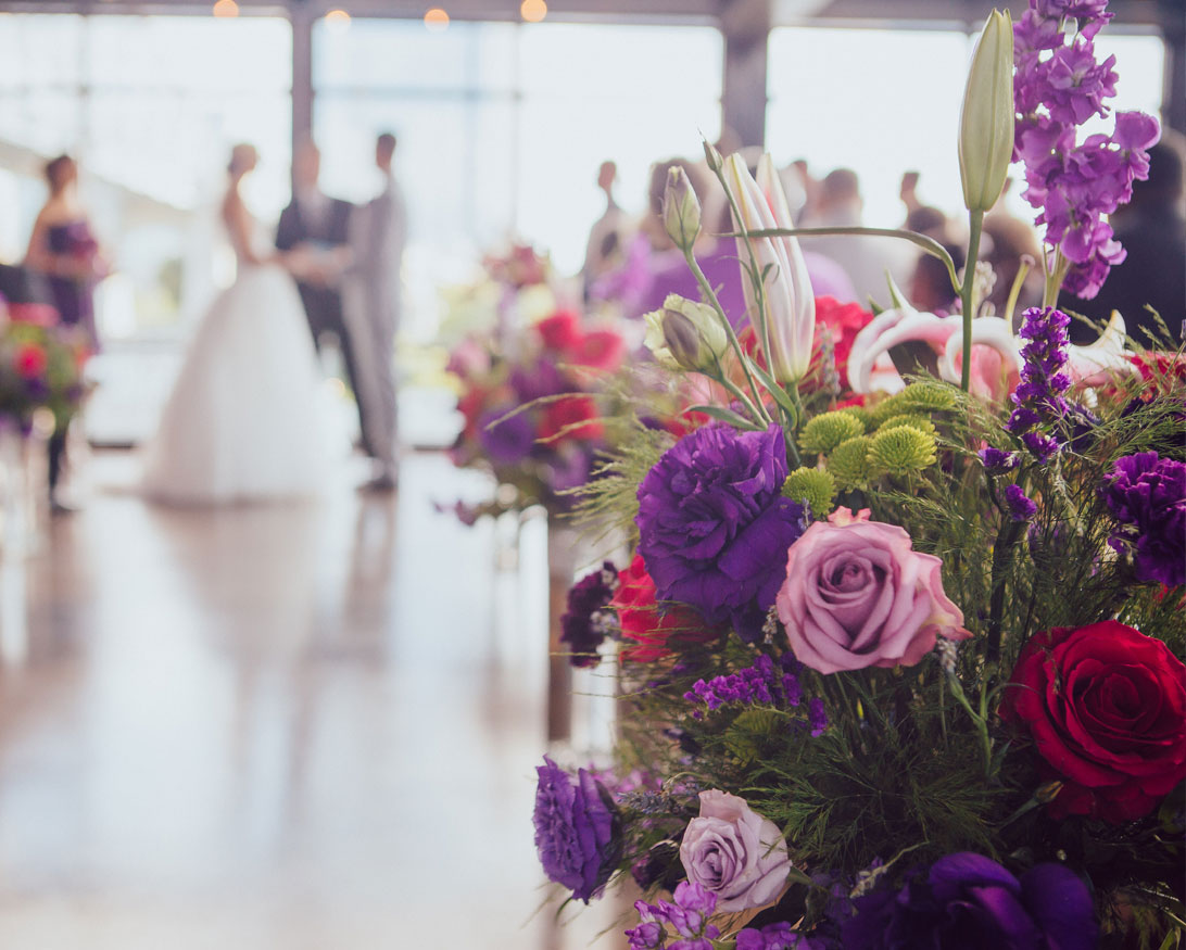 Bright bouquets at The Bridge Building